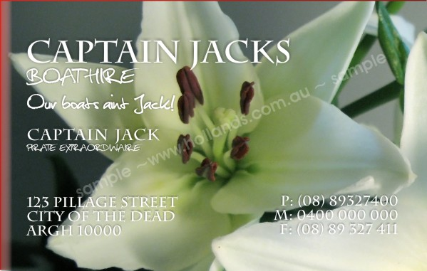 Abstract: White Lily Business Cards