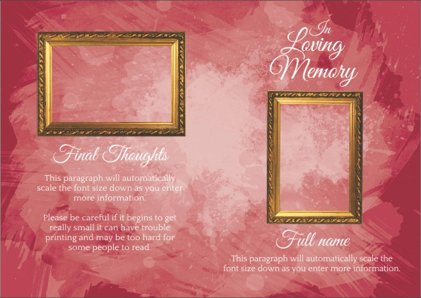 Funeral Program Template  Funeral Program Background