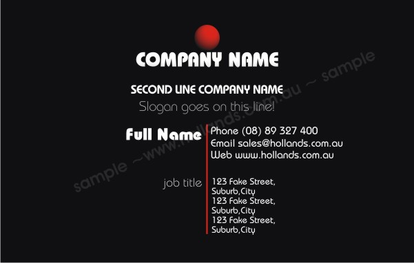 Abstract: Business Card Template 010 - Business Cards Online
